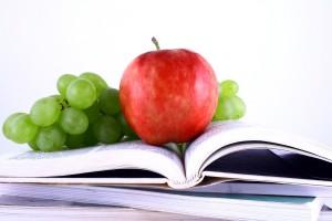 AppleGrapesBookcanstockphoto1023535